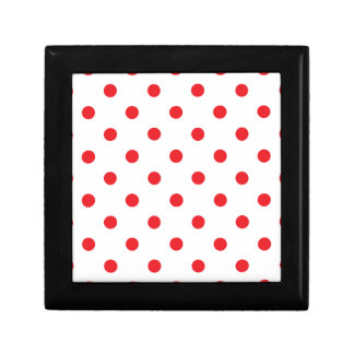 Amazing red dots on white gift box