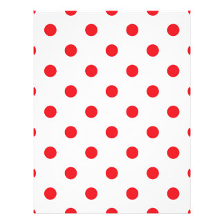 Amazing red dots on white letterhead
