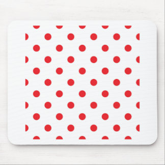 Amazing red dots on white mouse pad