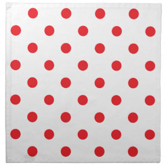 Amazing red dots on white napkin
