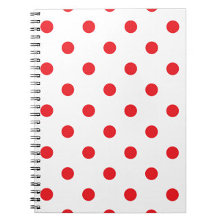 Amazing red dots on white notebooks