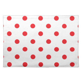 Amazing red dots on white placemat