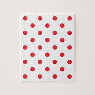 Amazing red dots on white puzzle