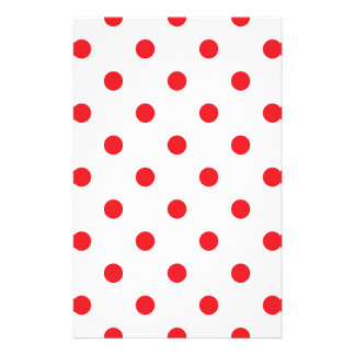 Amazing red dots on white stationery