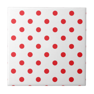 Amazing red dots on white tile