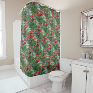 Amazing Red Shower Curtain