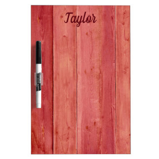 Amazing Red Wood Dry Erase Board