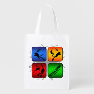 Amazing Scuba Diving Urban Style Grocery Bag