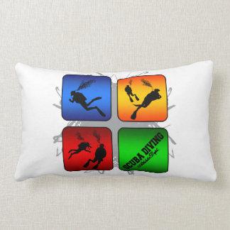 Amazing Scuba Diving Urban Style Lumbar Pillow