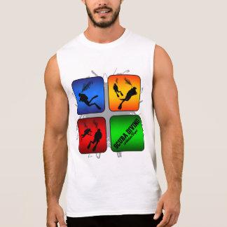 Amazing Scuba Diving Urban Style Sleeveless Shirt