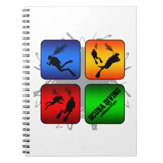 Amazing Scuba Diving Urban Style Spiral Notebook