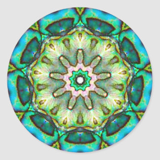 Amazing Sea Opal Classic Round Sticker