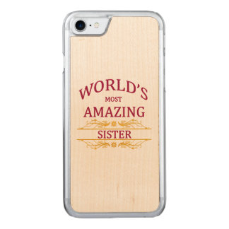 Amazing Sister Carved iPhone 7 Case