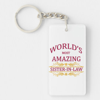 Amazing Sister-In-Law Double-Sided Rectangular Acrylic Keychain