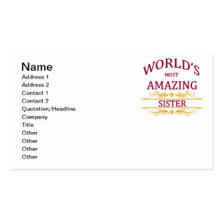 Amazing Sister Pack Of Standard Business Cards