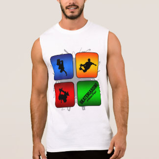 Amazing Skateboarding Urban Style Sleeveless Shirt
