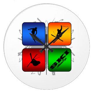 Amazing Ski Urban Style Clock
