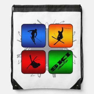 Amazing Ski Urban Style Drawstring Bag