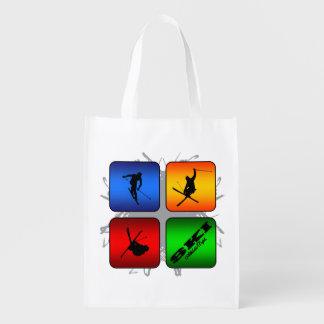Amazing Ski Urban Style Reusable Grocery Bag