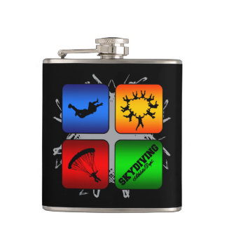 Amazing Skydiving Urban Style Hip Flask