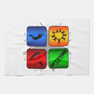 Amazing Skydiving Urban Style Kitchen Towel