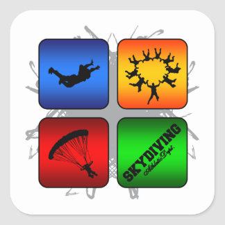 Amazing Skydiving Urban Style Square Sticker