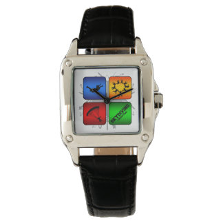 Amazing Skydiving Urban Style Wrist Watches