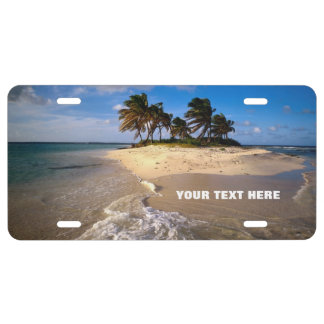 Amazing Small Solitary Island Custom Customizable License Plate