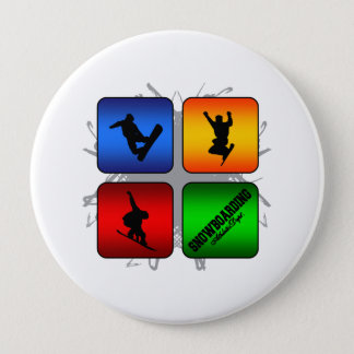 Amazing Snowboarding Urban Style 4 Inch Round Button