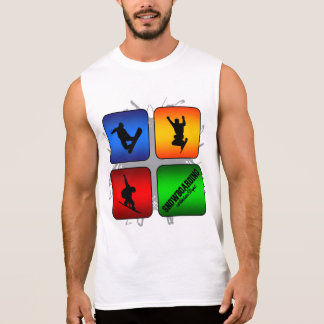 Amazing Snowboarding Urban Style Sleeveless Shirt