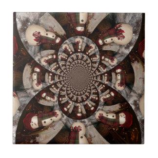 Amazing Snowman Ceramic Tile
