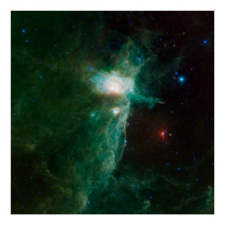 Amazing Space Image The Flame Nebula Poster