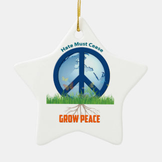 Amazing Star Ornament with Beautiful Earth Peace S
