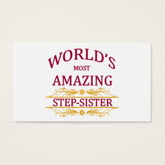 Amazing Step-Sister Business Card