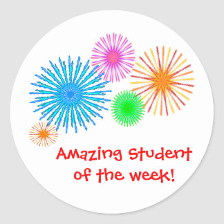 Amazing Student of the Week! Classic Round Sticker