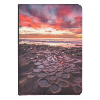 Amazing sunset at the tide pools kindle case