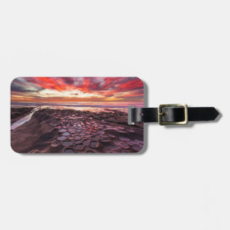Amazing sunset at the tide pools luggage tag
