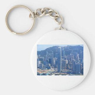 AMAZING TALLEST BUILDING IN HONG KONG BASIC ROUND BUTTON KEYCHAIN