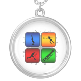 Amazing Tennis Urban Style (Female) Silver Plated Necklace