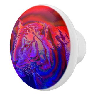 Amazing tiger ceramic knob