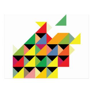 Amazing Triangle Print Hypnotic Postcard