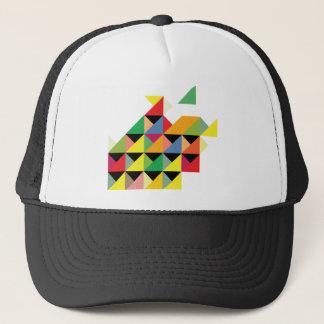 Amazing Triangle Print Hypnotic Trucker Hat