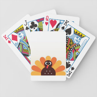 Amazing turkey in brown, yellow bicycle playing cards