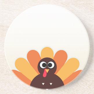 Amazing turkey in brown, yellow coaster