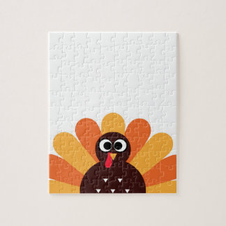 Amazing turkey in brown, yellow jigsaw puzzle