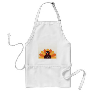 Amazing turkey in brown, yellow standard apron