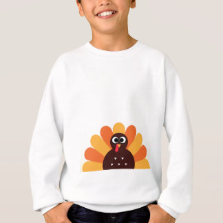 Amazing turkey in brown, yellow sweatshirt