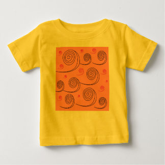 Amazing vintage t-shirt with Mare waves  YELLOW