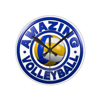 Amazing Volleyball Round Clock
