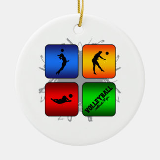 Amazing Volleyball Urban Style Ceramic Ornament